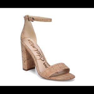 Sam Edelman Yaro Ankle Strap Cork Heel, size 7